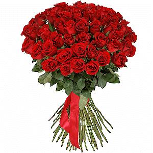 51 красная роза премиум с доставкой в Уссурийске