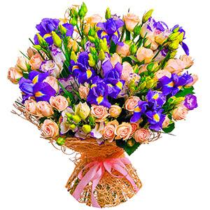 Дизайнерский букет +30% цветов с доставкой в Уссурийске