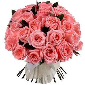 Букет из 35 розовых роз с доставкой в Уссурийске